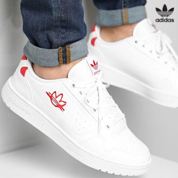 https://laboutiqueofficielle-res.cloudinary.com/image/upload/v1627646526/Desc/Watermark/3adidas_orginal.svg Adidas Originals - Baskets NY 90 FZ2250 Footwear White Scarlet Red