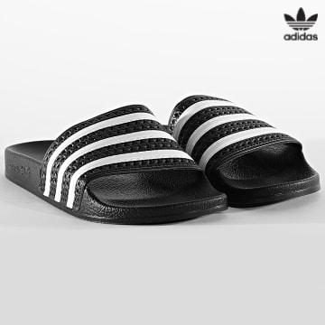 https://laboutiqueofficielle-res.cloudinary.com/image/upload/v1627646526/Desc/Watermark/3adidas_orginal.svg Adidas Originals - Claquettes Adilette 280647 Noir