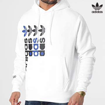 https://laboutiqueofficielle-res.cloudinary.com/image/upload/v1627646526/Desc/Watermark/3adidas_orginal.svg Adidas Originals - Sweat Capuche FRM GN3871 Blanc