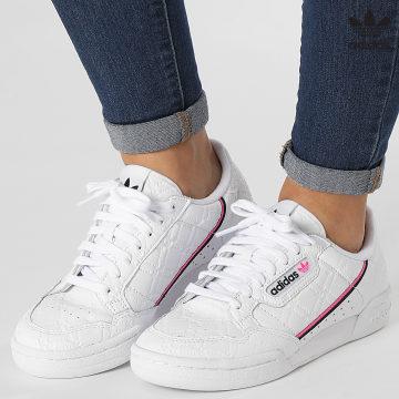 https://laboutiqueofficielle-res.cloudinary.com/image/upload/v1627646526/Desc/Watermark/3adidas_orginal.svg Adidas Originals - Baskets Femme FX5415 Cryo White Scraeming Pink Core Black