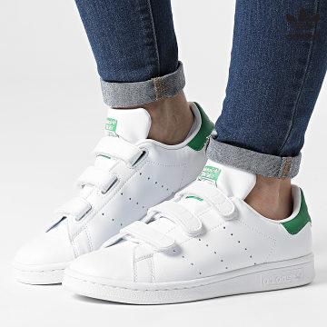 https://laboutiqueofficielle-res.cloudinary.com/image/upload/v1627646526/Desc/Watermark/3adidas_orginal.svg Adidas Originals - Baskets Femme Stan Smith CF FX5508 Cloud White Green