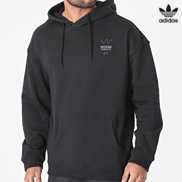 https://laboutiqueofficielle-res.cloudinary.com/image/upload/v1627646526/Desc/Watermark/3adidas_orginal.svg Adidas Originals - Sweat Capuche Abstract GN3308 Noir Rose