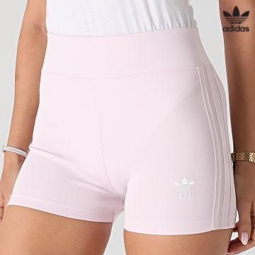 https://laboutiqueofficielle-res.cloudinary.com/image/upload/v1627646526/Desc/Watermark/3adidas_orginal.svg Adidas Originals - Short Jogging Femme A Bandes H56463 Rose