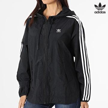 https://laboutiqueofficielle-res.cloudinary.com/image/upload/v1627646526/Desc/Watermark/3adidas_orginal.svg Adidas Originals - Coupe-Vent Femme A Capuche GN2780 Noir