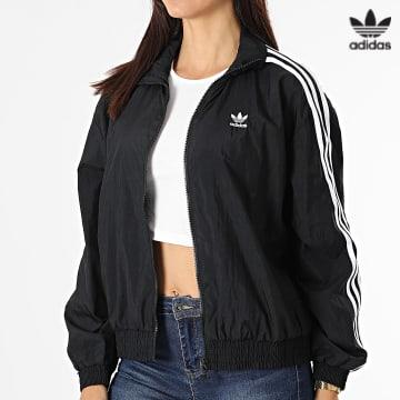 https://laboutiqueofficielle-res.cloudinary.com/image/upload/v1627646526/Desc/Watermark/3adidas_orginal.svg Adidas Originals - Veste Zippée Femme A Bandes Japona GN2928 Noir