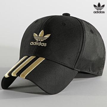 https://laboutiqueofficielle-res.cloudinary.com/image/upload/v1627646526/Desc/Watermark/3adidas_orginal.svg Adidas Originals - Casquette H09043 Noir Doré