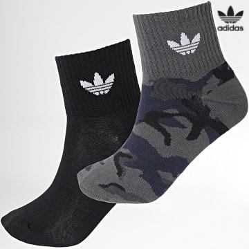 https://laboutiqueofficielle-res.cloudinary.com/image/upload/v1627646526/Desc/Watermark/3adidas_orginal.svg Adidas Originals - Lot De 2 Paires De Chaussettes Mid Ankle H32345 Noir Camouflage