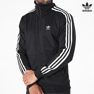 https://laboutiqueofficielle-res.cloudinary.com/image/upload/v1627646526/Desc/Watermark/3adidas_orginal.svg Adidas Originals - Veste Zippée A Bandes Beckenbauer H09112 Noir