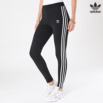 https://laboutiqueofficielle-res.cloudinary.com/image/upload/v1627646526/Desc/Watermark/3adidas_orginal.svg Adidas Originals - Legging Femme A Bandes 3 Stripes H09426 Noir