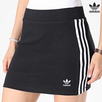 https://laboutiqueofficielle-res.cloudinary.com/image/upload/v1627646526/Desc/Watermark/3adidas_orginal.svg Adidas Originals - Jupe Femme A Bandes 3 Stripes H38761 Noir