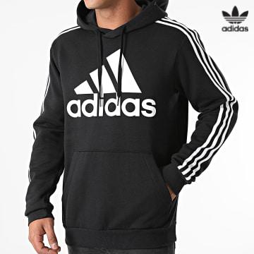 https://laboutiqueofficielle-res.cloudinary.com/image/upload/v1627646526/Desc/Watermark/3adidas_orginal.svg Adidas Originals - Sweat Capuche A Bandes H14641 Noir