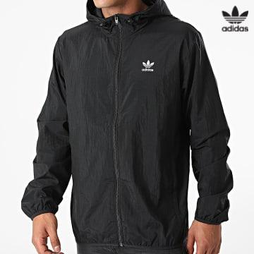 https://laboutiqueofficielle-res.cloudinary.com/image/upload/v1627646526/Desc/Watermark/3adidas_orginal.svg Adidas Originals - Coupe-Vent A Capuche Essential H34687 Noir