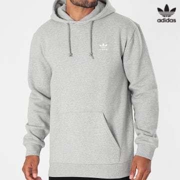 https://laboutiqueofficielle-res.cloudinary.com/image/upload/v1627646526/Desc/Watermark/3adidas_orginal.svg Adidas Originals - Sweat Capuche Essential H34654 Gris Chiné