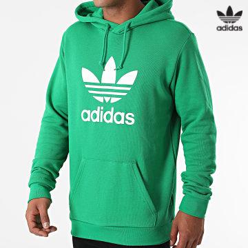 https://laboutiqueofficielle-res.cloudinary.com/image/upload/v1627646526/Desc/Watermark/3adidas_orginal.svg Adidas Originals - Sweat Capuche Trefoil H06668 Vert