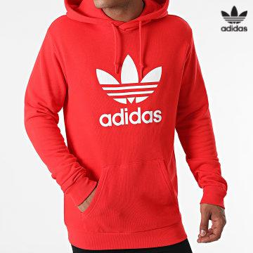 https://laboutiqueofficielle-res.cloudinary.com/image/upload/v1627646526/Desc/Watermark/3adidas_orginal.svg Adidas Originals - Sweat Capuche Trefoil H06668 Rouge