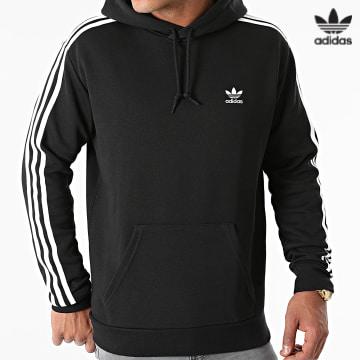https://laboutiqueofficielle-res.cloudinary.com/image/upload/v1627646526/Desc/Watermark/3adidas_orginal.svg Adidas Originals - Sweat Capuche A Bandes 3 Stripes H06676 Noir