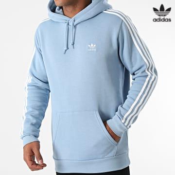 https://laboutiqueofficielle-res.cloudinary.com/image/upload/v1627646526/Desc/Watermark/3adidas_orginal.svg Adidas Originals - Sweat Capuche A Bandes 3 Stripes H06678 Bleu Clair