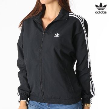 https://laboutiqueofficielle-res.cloudinary.com/image/upload/v1627646526/Desc/Watermark/3adidas_orginal.svg Adidas Originals - Veste Zippée Femme Track Top H20540 Noir
