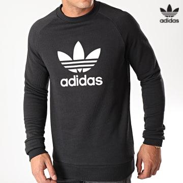 https://laboutiqueofficielle-res.cloudinary.com/image/upload/v1627646526/Desc/Watermark/3adidas_orginal.svg Adidas Originals - Sweat Crewneck Trefoil H06651 Noir