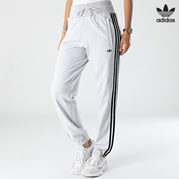 https://laboutiqueofficielle-res.cloudinary.com/image/upload/v1627646526/Desc/Watermark/3adidas_orginal.svg Adidas Originals - Pantalon Jogging A Bandes Femme H17950 Gris Chiné
