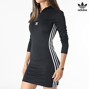 https://laboutiqueofficielle-res.cloudinary.com/image/upload/v1627646526/Desc/Watermark/3adidas_orginal.svg Adidas Originals - Robe Manches Longues Femme H35616 Noir