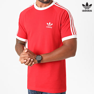 https://laboutiqueofficielle-res.cloudinary.com/image/upload/v1627646526/Desc/Watermark/3adidas_orginal.svg Adidas Originals - Tee Shirt A Bandes H37756 Rouge