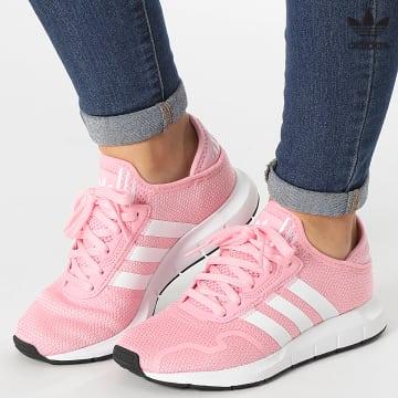 https://laboutiqueofficielle-res.cloudinary.com/image/upload/v1627646526/Desc/Watermark/3adidas_orginal.svg Adidas Originals - Baskets Femme Swift Run X FY2148 Light Pink Cloud White Core Black
