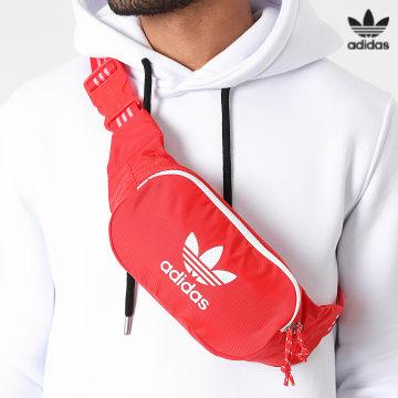 https://laboutiqueofficielle-res.cloudinary.com/image/upload/v1627646526/Desc/Watermark/3adidas_orginal.svg Adidas Originals - Sac Banane Adicolor Classic H35570 Rouge