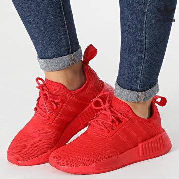 https://laboutiqueofficielle-res.cloudinary.com/image/upload/v1627646526/Desc/Watermark/3adidas_orginal.svg Adidas Originals - Baskets Femme NMD R1 Primeblue GX7605 Vivid Red