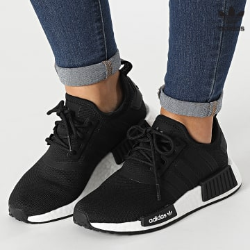 https://laboutiqueofficielle-res.cloudinary.com/image/upload/v1627646526/Desc/Watermark/3adidas_orginal.svg Adidas Originals - Baskets Femme NMD R1 Primeblue H02333 Core Black Cloud White