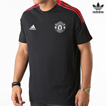 https://laboutiqueofficielle-res.cloudinary.com/image/upload/v1627646526/Desc/Watermark/3adidas_orginal.svg Adidas Originals - Tee Shirt A Bandes GR3821 Noir Rouge