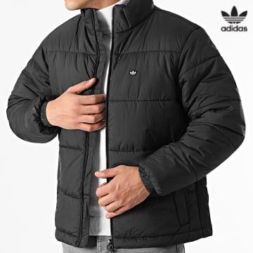 https://laboutiqueofficielle-res.cloudinary.com/image/upload/v1627646526/Desc/Watermark/3adidas_orginal.svg Adidas Originals - Doudoune Pad Stand Puffer H13551 Noir