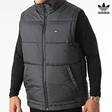 https://laboutiqueofficielle-res.cloudinary.com/image/upload/v1627646526/Desc/Watermark/3adidas_orginal.svg Adidas Originals - Doudoune Sans Manches Padded H13558 Noir