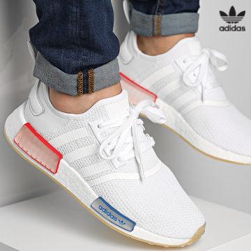 https://laboutiqueofficielle-res.cloudinary.com/image/upload/v1627646526/Desc/Watermark/3adidas_orginal.svg Adidas Originals - Baskets NMD R1 GX1050 Cloud White Lush blue