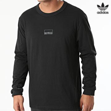https://laboutiqueofficielle-res.cloudinary.com/image/upload/v1627646526/Desc/Watermark/3adidas_orginal.svg Adidas Originals - adidas -Tee Shirt Manches Longues RYV Logo Noir