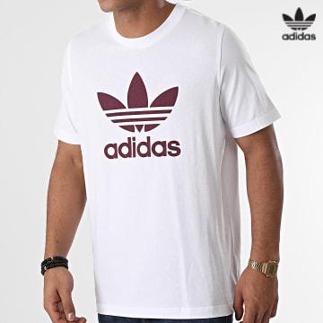 https://laboutiqueofficielle-res.cloudinary.com/image/upload/v1627646526/Desc/Watermark/3adidas_orginal.svg Adidas Originals - Tee Shirt Trefoil H06637 Blanc