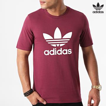 https://laboutiqueofficielle-res.cloudinary.com/image/upload/v1627646526/Desc/Watermark/3adidas_orginal.svg Adidas Originals - Tee Shirt Trefoil H06641 Bordeaux