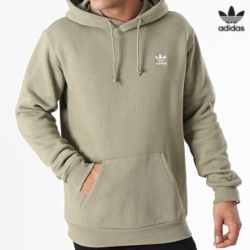 https://laboutiqueofficielle-res.cloudinary.com/image/upload/v1627646526/Desc/Watermark/3adidas_orginal.svg Adidas Originals - Sweat Capuche Essential H34650 Vert Kaki