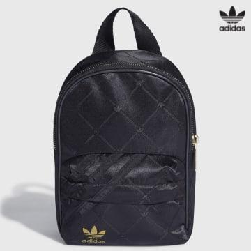 https://laboutiqueofficielle-res.cloudinary.com/image/upload/v1627646526/Desc/Watermark/3adidas_orginal.svg Adidas Originals - Sac A Dos Femme Backpack Mini H09038 Noir Doré