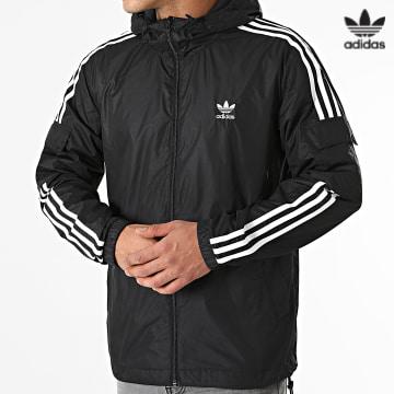 https://laboutiqueofficielle-res.cloudinary.com/image/upload/v1627646526/Desc/Watermark/3adidas_orginal.svg Adidas Originals - Coupe-Vent A Bandes H06683 Noir