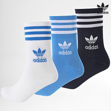 https://laboutiqueofficielle-res.cloudinary.com/image/upload/v1627646526/Desc/Watermark/3adidas_orginal.svg Adidas Originals - Lot De 3 Chaussettes H32334 Bleu Blanc