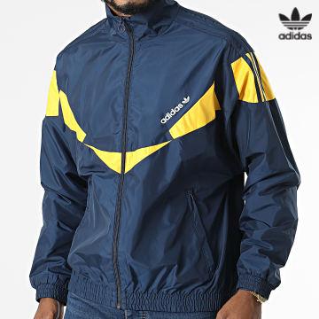 https://laboutiqueofficielle-res.cloudinary.com/image/upload/v1627646526/Desc/Watermark/3adidas_orginal.svg Adidas Originals - Veste Zippée HF9226 Bleu Marine