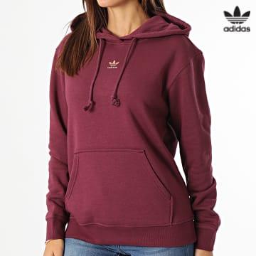 https://laboutiqueofficielle-res.cloudinary.com/image/upload/v1627646526/Desc/Watermark/3adidas_orginal.svg Adidas Originals - Sweat Capuche Femme H34728 Bordeaux