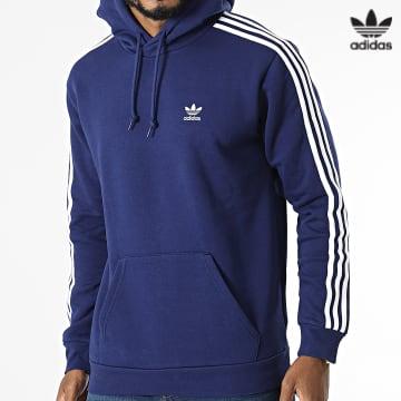 https://laboutiqueofficielle-res.cloudinary.com/image/upload/v1627646526/Desc/Watermark/3adidas_orginal.svg Adidas Originals - Sweat Capuche A Bandes 3 Stripes H06677 Bleu Marine