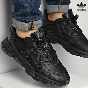 https://laboutiqueofficielle-res.cloudinary.com/image/upload/v1627646526/Desc/Watermark/3adidas_orginal.svg Adidas Originals - Baskets Ozweego GW8016 Core Black Dark Solid Grey
