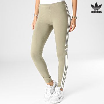 https://laboutiqueofficielle-res.cloudinary.com/image/upload/v1627646526/Desc/Watermark/3adidas_orginal.svg Adidas Originals - Legging Femme Trefoil H35535 Vert Kaki