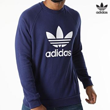 https://laboutiqueofficielle-res.cloudinary.com/image/upload/v1627646526/Desc/Watermark/3adidas_orginal.svg Adidas Originals - Sweat Crewneck Trefoil H06654 Bleu Marine