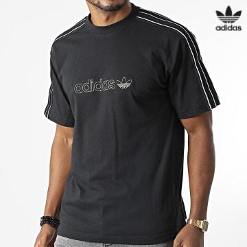 https://laboutiqueofficielle-res.cloudinary.com/image/upload/v1627646526/Desc/Watermark/3adidas_orginal.svg Adidas Originals - Tee Shirt A Bandes H31286 Noir