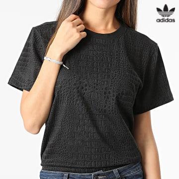 https://laboutiqueofficielle-res.cloudinary.com/image/upload/v1627646526/Desc/Watermark/3adidas_orginal.svg Adidas Originals - Tee Shirt Femme H20423 Noir Serpent