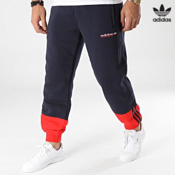 https://laboutiqueofficielle-res.cloudinary.com/image/upload/v1627646526/Desc/Watermark/3adidas_orginal.svg Adidas Originals - Pantalon Jogging A Bandes H31269 Bleu Marine